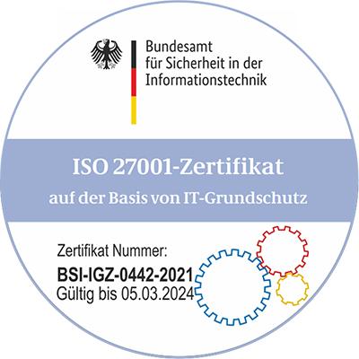 BSI-Zertifikat 2018 - 2021