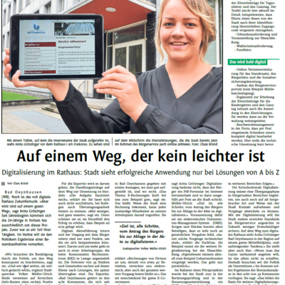 Westfalenblatt Digitalisierung Bad Oeynhausen
